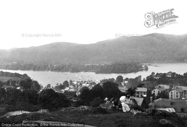 Photo of Windermere, From Biskey Howe 1887