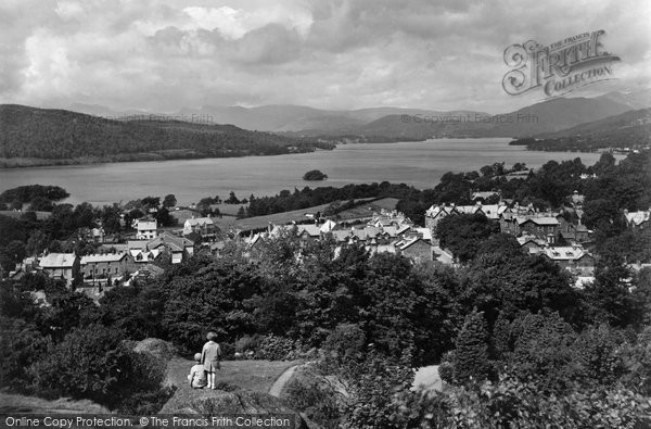 Photo of Windermere, Lake From Biskey Howe 1929