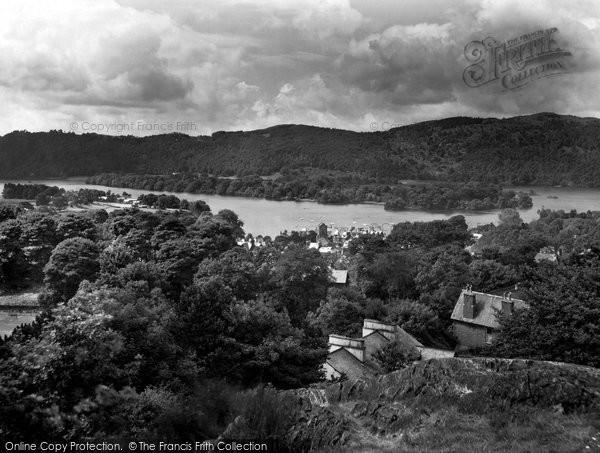 Photo of Windermere, Lake From Biskey Howe 1929