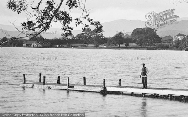Photo of Windermere, Man On Landing Stage, Miller Ground 1926