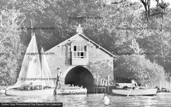 Photo of Windermere, Moor Crag Boat House c.1955