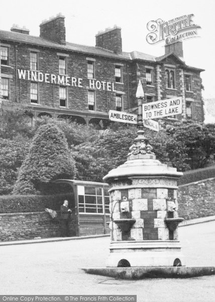Photo of Windermere, Road Sign c.1955
