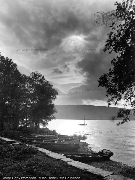 Photo of Windermere, Sunset 1926, ref. 79186