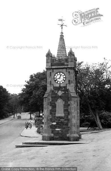 Photo of Windermere, The Baddeley Clock c.1955