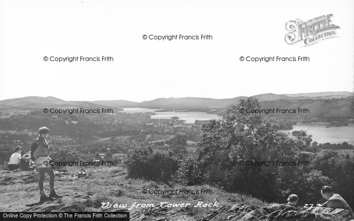 Photo of Windermere, View From Tower Rock c.1950
