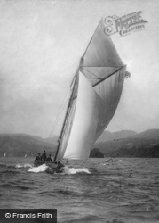 Yachting, A Stiff Breeze c.1880, Windermere