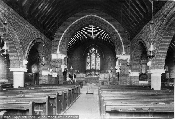 Photo of Windlesham, Church Interior 1903