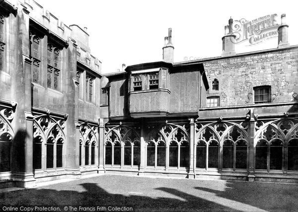 Photo of Windsor, Castle, Cloister Court And Tudor Balcony 1895