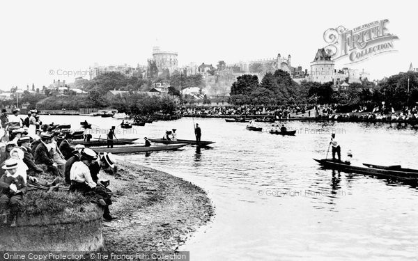 Photo of Windsor, Castle From Across The River Thames 1906