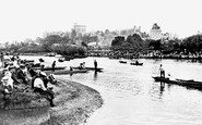 Windsor, Castle From Across The River Thames 1906