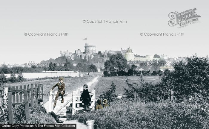 Photo of Windsor, Castle From Clewer Path 1890