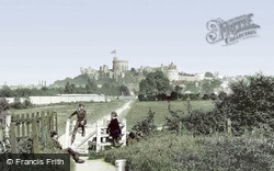 Windsor, Castle From Clewer Path 1890