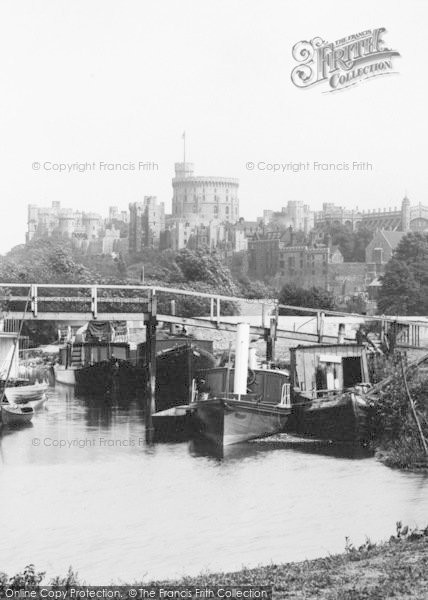 Photo of Windsor, Castle, From The Meadows  1895