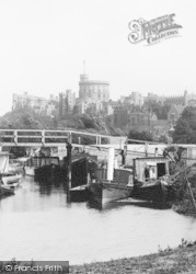 Windsor, Castle, From The Meadows  1895