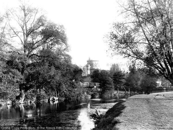 Photo of Windsor, Castle From The Meadows 1895