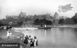 Castle From The River Thames 1895, Windsor