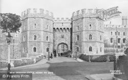 Windsor, Castle, Henry VIII Gate 1937