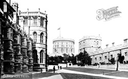 Windsor, Castle, Lower Ward 1895