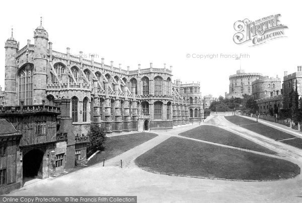 Photo of Windsor, Castle, Lower Ward And St George's Chapel 1895