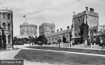 Windsor, Castle, Military Knights Houses 1895