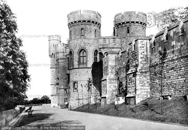 Photo of Windsor, Castle, North Terrace And Norman Tower 1895
