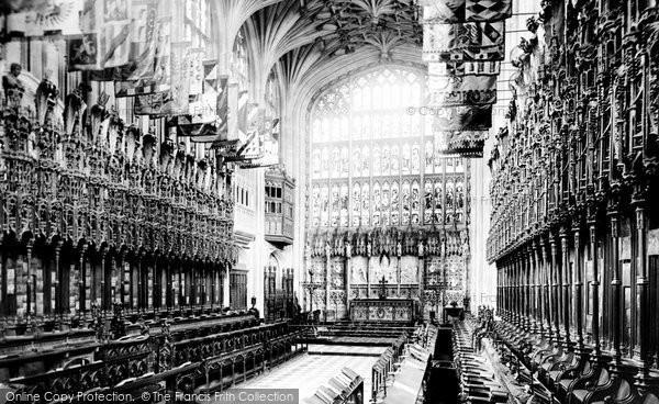 Photo of Windsor, Castle, St George's Chapel Choir 1895