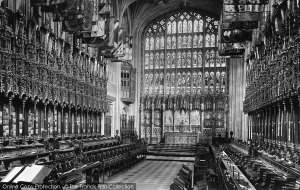 Photo of Windsor, Castle, St George's Chapel, Choir East 1895