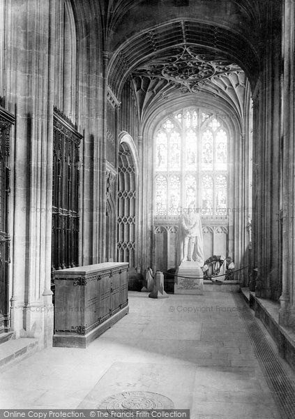 Photo of Windsor, Castle, St George's Chapel, Statue Of Emperor Friedrich 1895