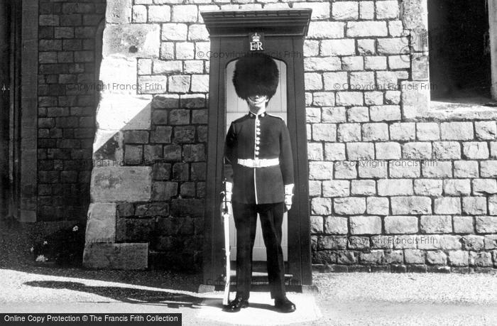 Photo of Windsor, Castle, the Coldstream Guard c1960
