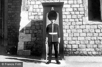 Windsor, Castle, the Coldstream Guard c1960