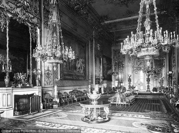 Photo of Windsor, Castle, The Grand Reception Room 1923