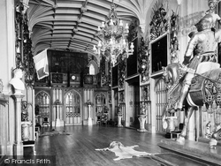 Windsor, Castle, The Guard Room 1923