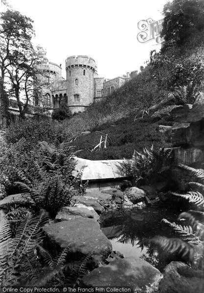 Photo of Windsor, Castle, The Norman Gate And The Moat Garden 1914