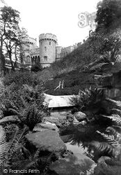 Windsor, Castle, The Norman Gate And The Moat Garden 1914