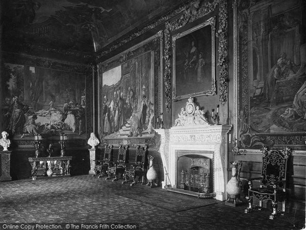 Photo of Windsor, Castle, The Presence Chamber 1923