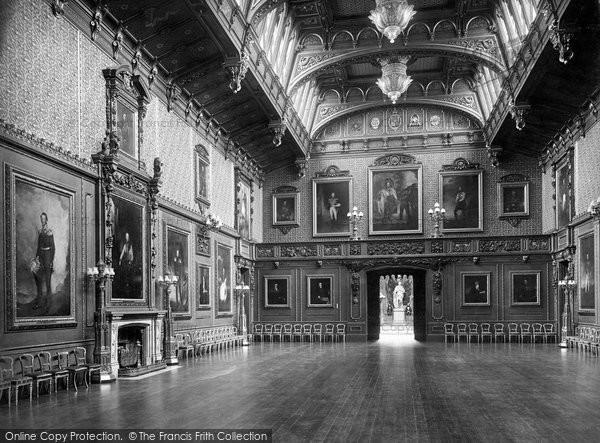Photo of Windsor, Castle, The Waterloo Chamber 1923