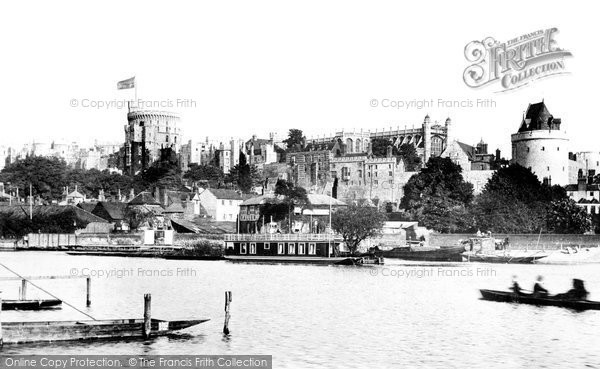 Photo of Windsor, From The River Thames 1890