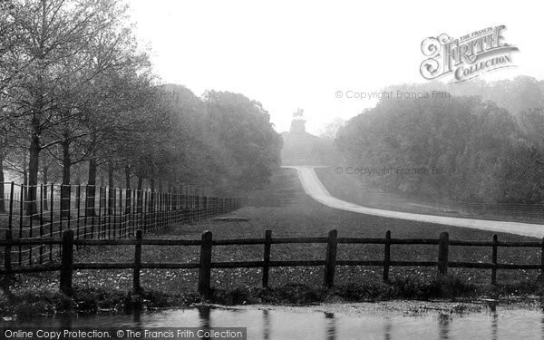 Photo of Windsor, Great Park, Long Walk And Statue 1895