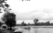 Windsor, Launch on River Thames c1950