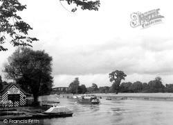 Windsor, Launch On River Thames c.1950