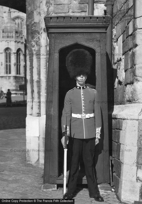 Photo of Windsor, Sentry At Henry VIII Gateway c.1958