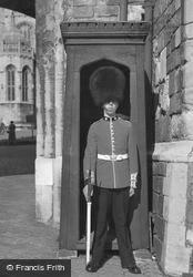 Windsor, Sentry At Henry Viii Gateway c.1958