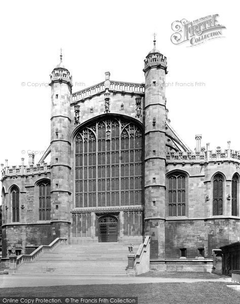 Photo of Windsor, St George's Chapel, West End 1895