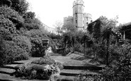 Windsor, St George's Tower And Moat Garden 1914