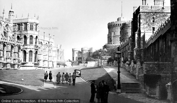 Photo of Windsor, The Castle c.1955