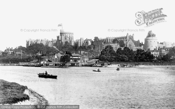 Photo of Windsor, The Castle From Brocas 1890