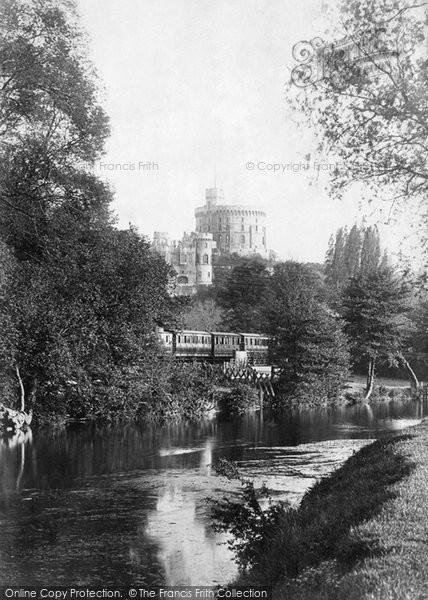 Photo of Windsor, The Castle From Romney Island 1895