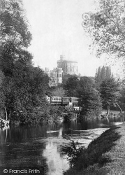 Windsor, The Castle From Romney Island 1895