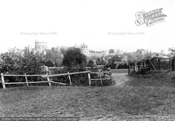 Photo of Windsor, The Castle From The Meadows 1895
