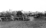 Windsor, The Castle From The Meadows 1895